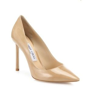 Jimmy Choo Rommy Nude Pumps